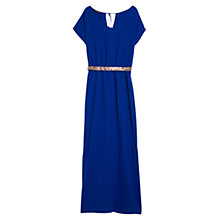 Buy Violeta by Mango Side Slit Gown, Electric Blue Online at johnlewis.com