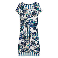 Buy Violeta by Mango Mixed Print Dress, Medium Blue Online at johnlewis.com