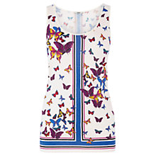 Buy Oasis Butterfly Scarf Vest Top, Multi Online at johnlewis.com