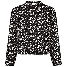 Buy Oasis Edie Floral Crepe Top, Multi Online at johnlewis.com
