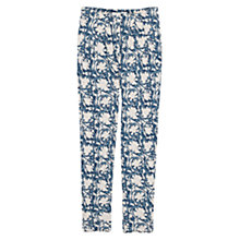 Buy Mango Printed Trousers, Medium Blue Online at johnlewis.com