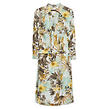 Buy Violeta by Mango Floral Dress, Beige/Khaki Online at johnlewis.com