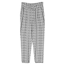 Buy Mango Mosaic Baggy Trousers, Black Online at johnlewis.com