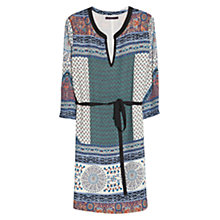 Buy Violeta by Mango Cashmere Print Dress, Dark Blue Online at johnlewis.com