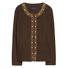 Buy Violeta by Mango Embroidery Bead Jacket, Khaki Online at johnlewis.com