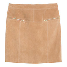 Buy Violeta by Mango Highwaist Suede Skirt, Light Beige Online at johnlewis.com