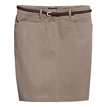 Buy Violeta by Mango Belted Mini Skirt, Medium Brown Online at johnlewis.com