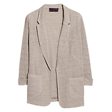 Buy Violeta by Mango Lapel Knit Jacket, Light Beige Online at johnlewis.com