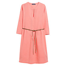Buy Violeta by Mango Pleated Dress, Light Pastel Orange Online at johnlewis.com