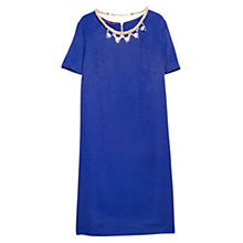 Buy Violeta by Mango Detachable Necklace Dress, Electric Blue Online at johnlewis.com