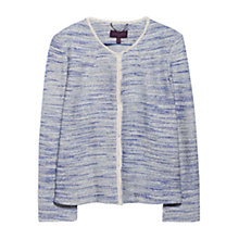 Buy Violeta by Mango Bouclé Jacket, Medium Blue Online at johnlewis.com