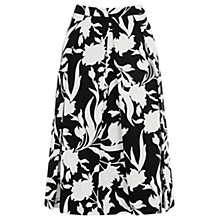 Buy Oasis Flouris Shadow Midi Skirt, Multi Online at johnlewis.com