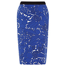 Buy Oasis Fruit Pencil Skirt, Multi Blue Online at johnlewis.com