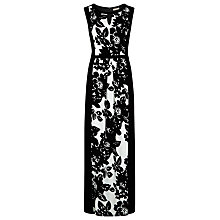 Buy Planet Printed Maxi Dress, Black/White Online at johnlewis.com