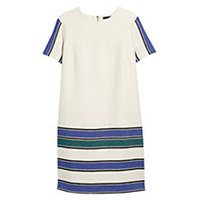 Buy Violeta by Mango Striped Panel Dress, Sea Cloud Online at johnlewis.com