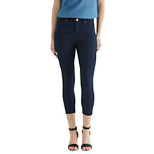 Buy Oasis Grace Highwaisted Capri Jeans, Navy Online at johnlewis.com