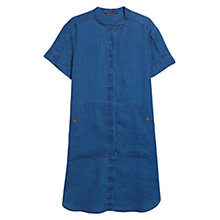 Buy Violeta by Mango Linen Flowy Dress, Open Blue Online at johnlewis.com