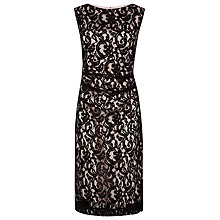 Buy Planet Two Tone Lace Dress, Black/Oyster Online at johnlewis.com