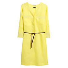 Buy Violeta by Mango Linen Belted Dress, Yellow Online at johnlewis.com