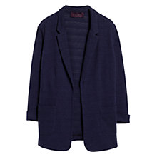 Buy Violeta by Mango Lapel Knit Jacket, Navy Online at johnlewis.com
