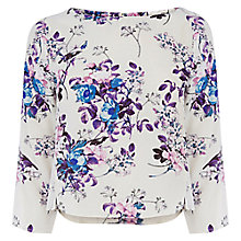 Buy Oasis Jasmine Bird Top, Multi Online at johnlewis.com