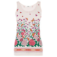 Buy Oasis Butterfly Print Border Vest, Multi Online at johnlewis.com