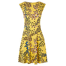 Buy Oasis Butterfly Skater Dress, Ochre Online at johnlewis.com