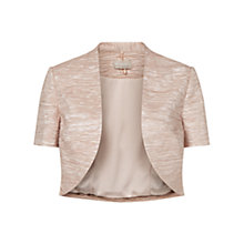 Buy Planet Ruched Bolero Jacket, Oyster Online at johnlewis.com