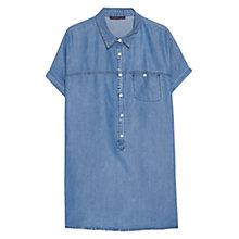 Buy Violeta by Mango Pocket Soft Shirt, Open Blue Online at johnlewis.com
