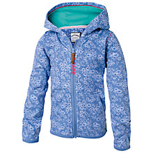 Buy Fat Face Girls' Floral Print Hoodie, Blue Online at johnlewis.com