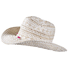 Buy Fat Face Girls' Straw Cowboy Hat, Natural Online at johnlewis.com