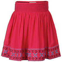 Buy Fat Face Border Embroidered Skirt, Watermelon Online at johnlewis.com