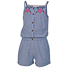 Buy Fat Face Playsuit, Chambray Online at johnlewis.com