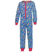 Buy Fat Face Cat Print Onesie, Cloud Online at johnlewis.com