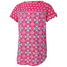 Buy Fat Face Children's Tile Print T-Shirt Online at johnlewis.com