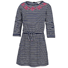 Buy Fat Face Girls' Kirby Stripe Jersey Dress, Blue Online at johnlewis.com