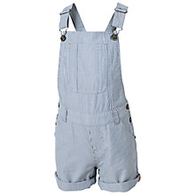 Buy Fat Face Children's Stripe Dungarees, Denim Online at johnlewis.com