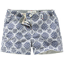 Buy Fat Face Children's Tile Print Shorts, Blue Online at johnlewis.com
