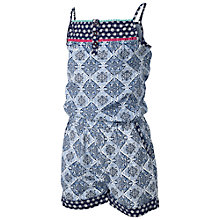 Buy Fat Face Children's Tile Print Playsuit, Blue Online at johnlewis.com