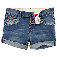 Buy Fat Face Girls' Appleby Denim Shorts, Blue Online at johnlewis.com