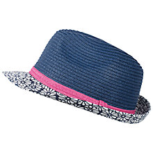 Buy Fat Face Daisy Print Trilby, Blue Online at johnlewis.com