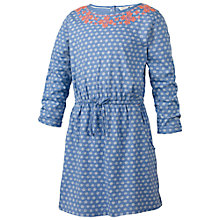 Buy Fat Face Girls' Geo Print Jersey Dress, Blue Online at johnlewis.com
