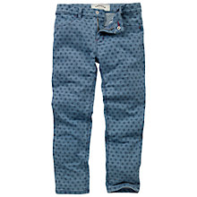 Buy Fat Face Children's Millisle Geo Print Jeggings, Denim Online at johnlewis.com