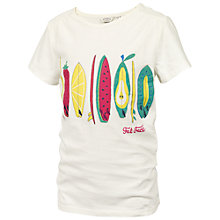Buy Fat Face Children's Fruit Surfboard T-Shirt, Beige Online at johnlewis.com