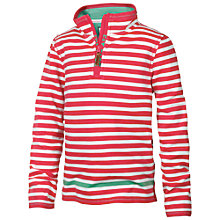 Buy Fat Face Children's Stripe Half Neck Sweatshirt, Pink Online at johnlewis.com