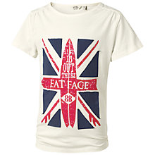 Buy Fat Face Children's Union Jack T-Shirt, Beige Online at johnlewis.com