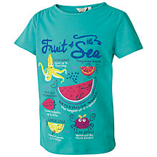 Buy Fat Face Girls' Fruit Of The Sea T-Shirt, Green Online at johnlewis.com