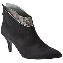 Buy Peter Kaiser Frina Suede Stiletto Ankle Boots, Black Suede Online at johnlewis.com