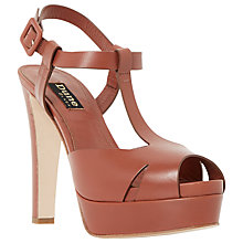 Buy Dune Black Marykate Leather Platform Court Shoes, Tan Online at johnlewis.com