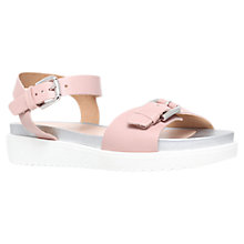 Buy Carvela Krumble Flat Buckle Sandals, Nude Leather Online at johnlewis.com